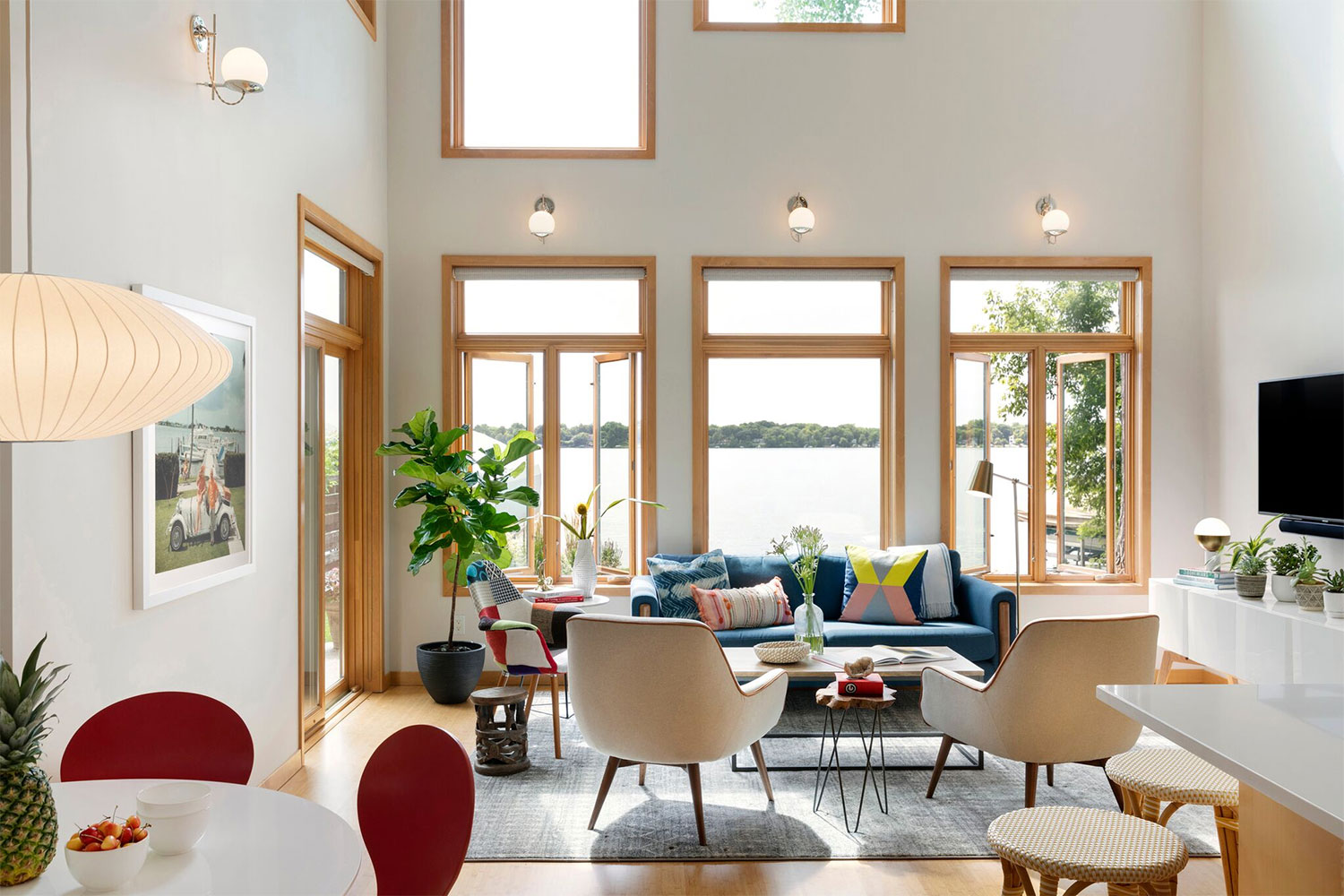 Lucy Interior Design, Mid Century Lakehouse